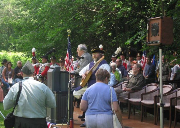 Bill Stanley at the Samuel Huntington Wreath Laying Ceremony