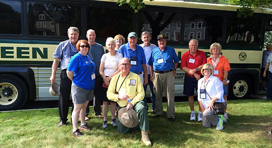 Bus Tour of the Benedict Arnold Trail for America's History LLC. Tour participants included James Kirby Martin, renowned Benedict Arnold Historian.